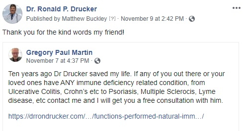 a person talking about digestacure autoimmune-x and the results